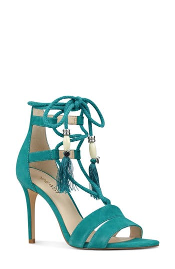 Women's Nine West Mangalara Lace-Up Sandal, Size 5 M - Blue