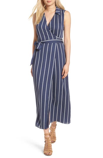 Women's L'Academie The Sleeveless Wrap Dress, Size X-Small - Blue