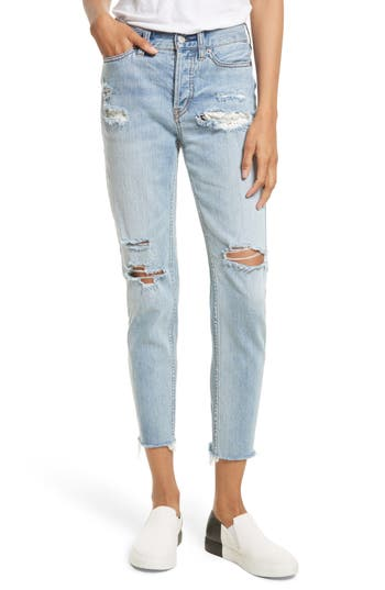 Women's Free People Lacey Stilt Embroidered Crop Jeans