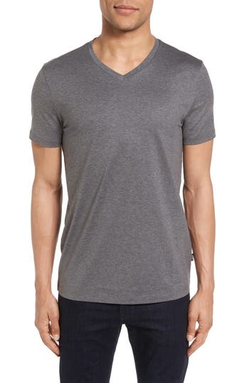 Boss V-Neck T-Shirt, Grey