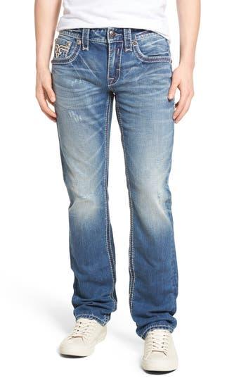 Rock Revival Alternative Straight Leg Jeans, Blue