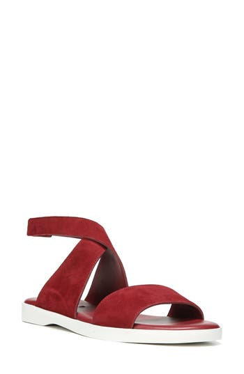 Via Spiga Jordan Ankle Strap Sandal- Red