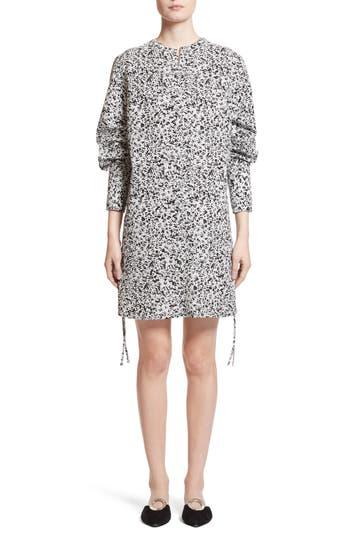 Proenza Schouler Print Poplin Shift Dress, White