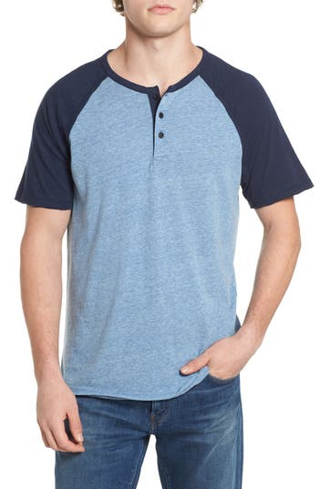 Lucky Brand Colorblock Henley T-Shirt, Blue