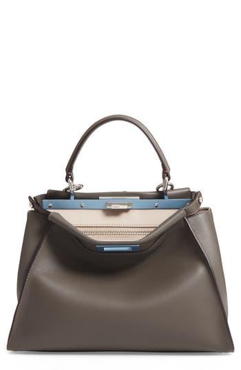 Fendi 'Peek-A-Boo' Medium Crossbody Bag - Grey