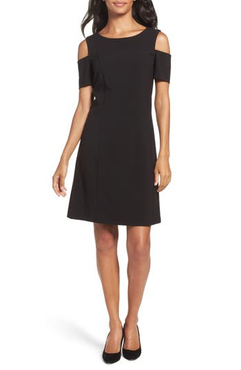 Petite Women's Tahari Cold Shoulder Sheath Dress