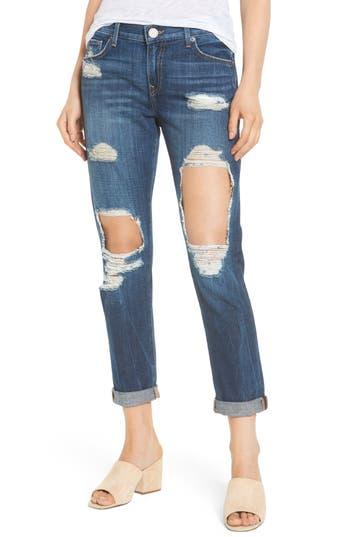 True Religion Brand Jeans Cameron Destroyed Boyfriend Jeans, Blue