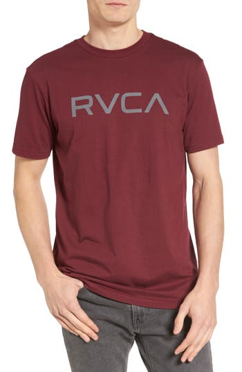 Rvca Big Rvca Graphic T-Shirt, Burgundy