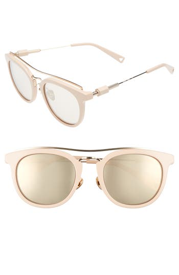 Women's Haze Zeal 52Mm Aviator Sunglasses - Pastel Nude