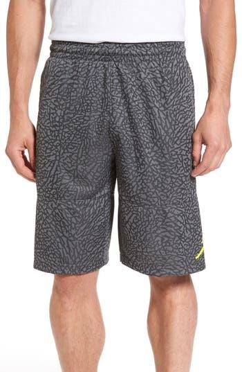 Nike Jordan Ele Blockout Athletic Shorts, Grey