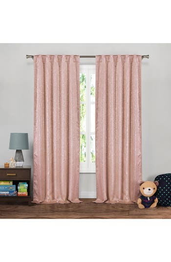 Lala + Bash Maddie Metallic Blackout Window Panels, Size One Size - Pink