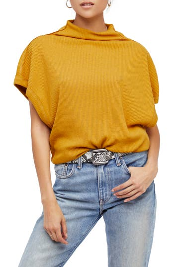 Women's Free People Madeline Top, Size Small - Yellow