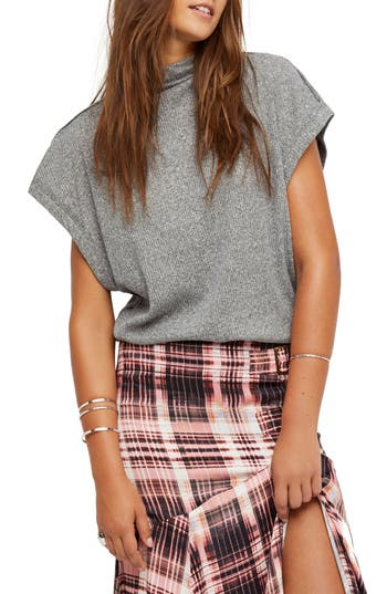 Free People Madeline Top, Grey