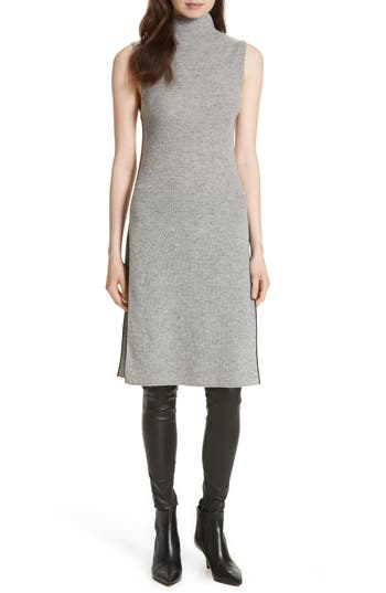 Alice + Olivia Stori Double Slit Sweater Dress, Grey