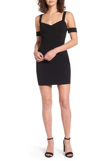 Lush Body-Con Dress, Black