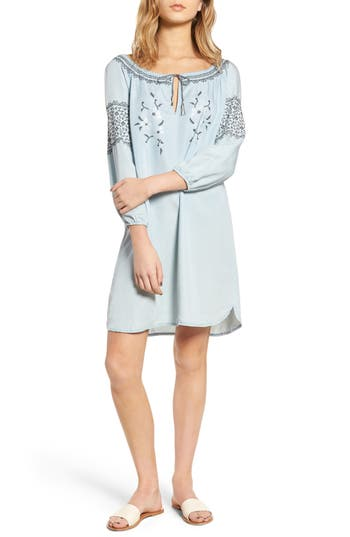 Cupcakes And Cashmere Rosabel Peasant Dress, Blue