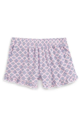 Girl's Tucker + Tate Print Ruffle Shorts, Size 7 - White
