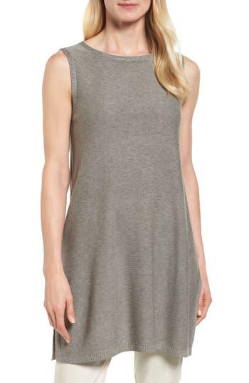 Eileen Fisher Tencel & Merino Wool Tunic, Grey