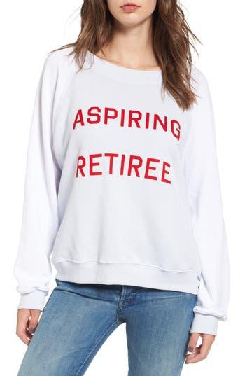 Women's Wildfox Aspiring Retiree Sweatshirt, Size Small - Blue