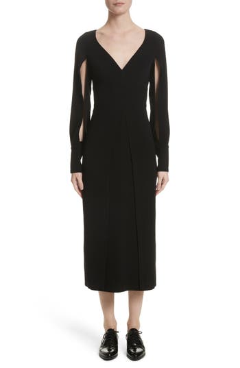 Yigal Azrouel Crepe Midi Dress, Black