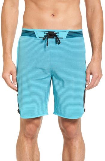 Hurley Phantom Hyperweave Motion Stripe Board Shorts, Blue