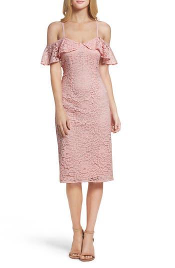 Trina Trina Turk Mysterious Off The Shoulder Dress, Pink
