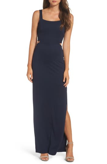 Women's Fraiche By J Maxi Dress, Size Small - Blue