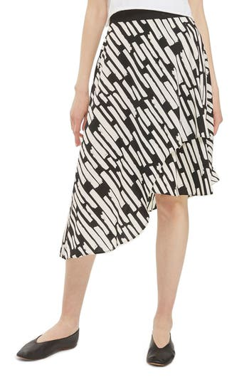 Women's Topshop Cut Stripe Asymmetrical Skirt