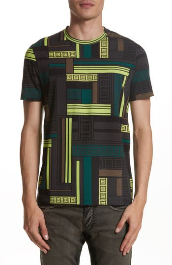 Versace Collection Allover Frame Print T-Shirt, Green