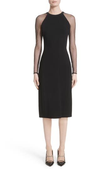 Jason Wu Swiss Dot Sleeve Dress, Black