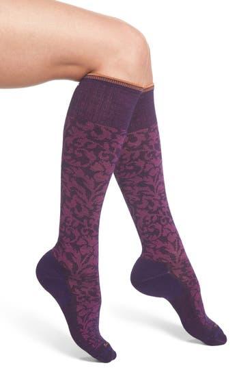 Women's Sockwell 'Damask' Compression Socks, Size Small/Medium - Purple