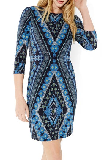 Karen Kane Diamond Print Jersey Sheath Dress, Purple