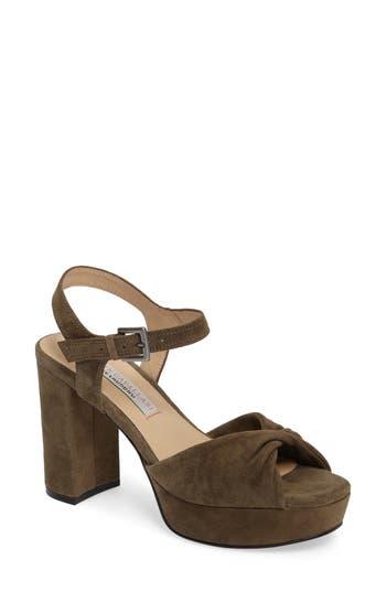 Kristin Cavallari Ryne Twist Toe Platform Sandal- Green