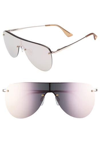 Le Specs The King 5m Shield Sunglasses - Rose Gold
