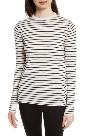 Women's Atm Anthony Thomas Melillo Stripe Silk Blend Sweater, Size Small - White