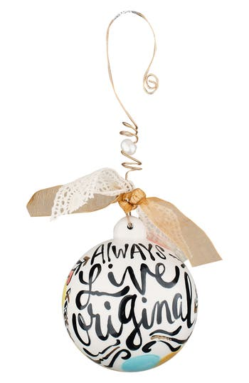Glory Haus Always Live Original Ball Ornament, Size One Size - Ivory