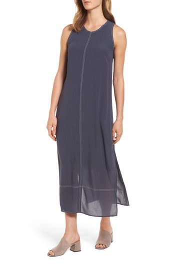 Nic+Zoe Stitched Up Midi Dress, Grey