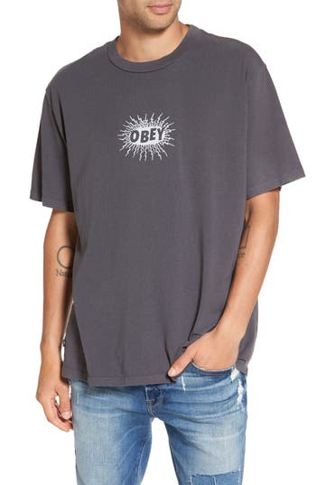 Obey Spazz Graphic T-Shirt, Black