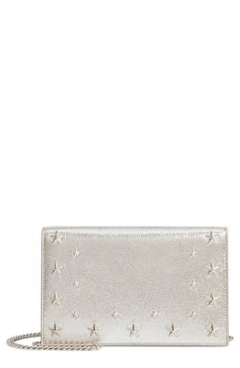 Jimmy Choo Sky Leather Crossbody Bag - Metallic
