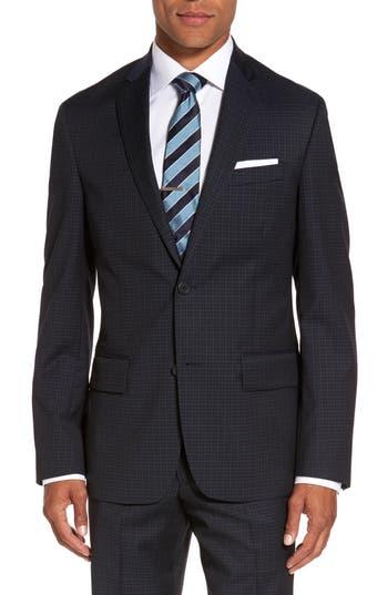 Nordstrom Shop Cross Hatch Wool Sport Coat Blue