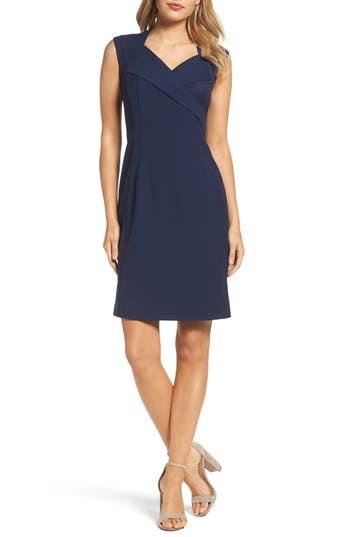 Ellen Tracy Sheath Dress, Blue