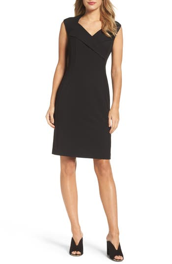 Ellen Tracy Sheath Dress, Black