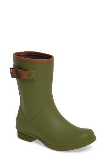 Chooka City Solid Mid Height Rain Boot, Green
