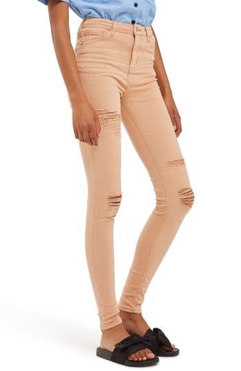 Women's Topshop Jamie Super Rip Skinny Jeans