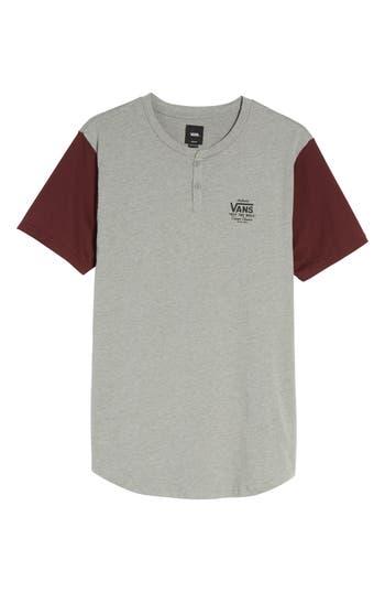 Vans Hitson Ii Henley T-Shirt, Grey