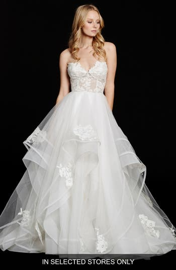 Hayley Paige Chantelle Strapless Lace & Tulle Ballgown