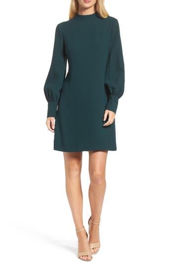 Eliza J Bishop Sleeve Shift Dress, Green
