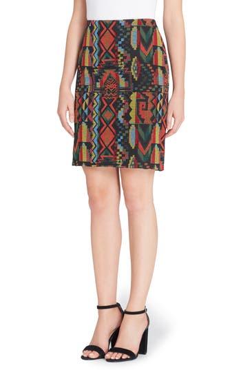 Catherine Catherine Malandrino Emmett Geo Woven Skirt, Black