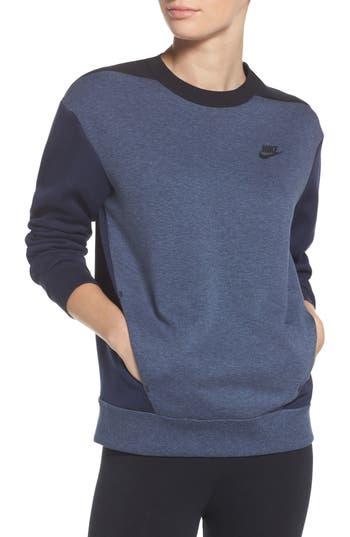 Nike Colorblock Fleece Top, Blue