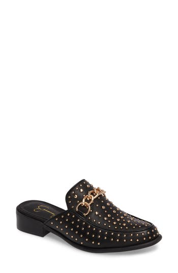 Jessica Simpson Beez Loafer Mule, Black
